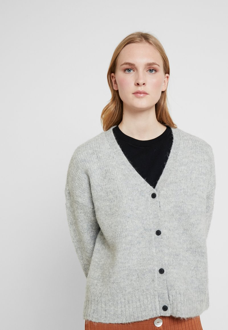 Selected Femme - SLFUMA CARIDGAN  - Kardigan - light grey melange