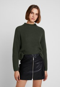 Selected Femme - SLFBANDANI HIGHNECK - Stickad tröja - rosin - 0