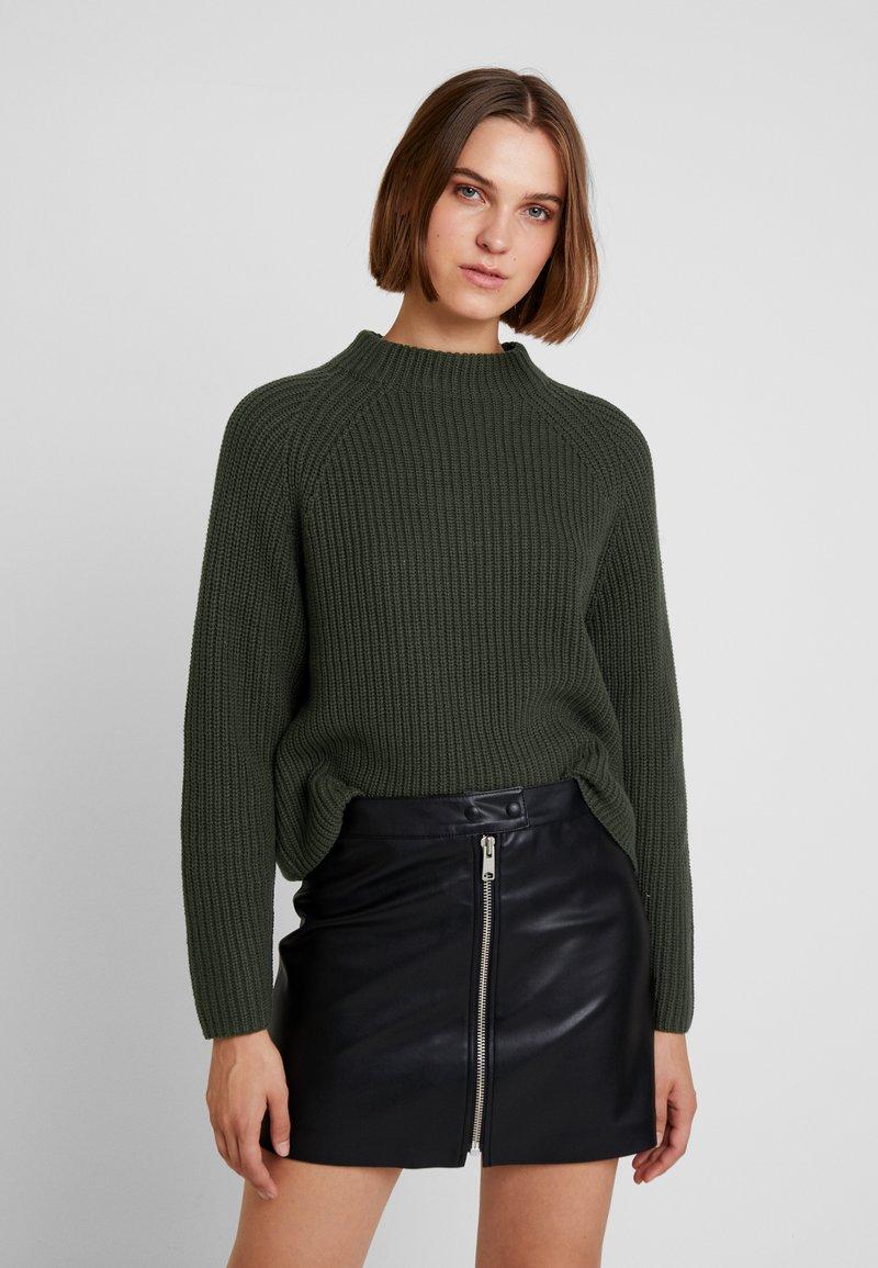 Selected Femme - SLFBANDANI HIGHNECK - Stickad tröja - rosin