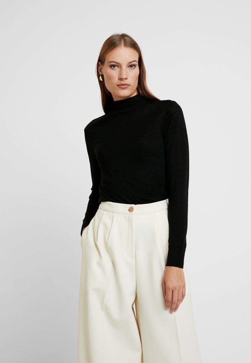 Selected Femme - SLFMERONI NECK - Jumper - black