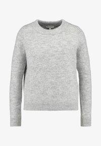 Selected Femme - SLFSIA O NECK - Svetr - light grey melange - 3