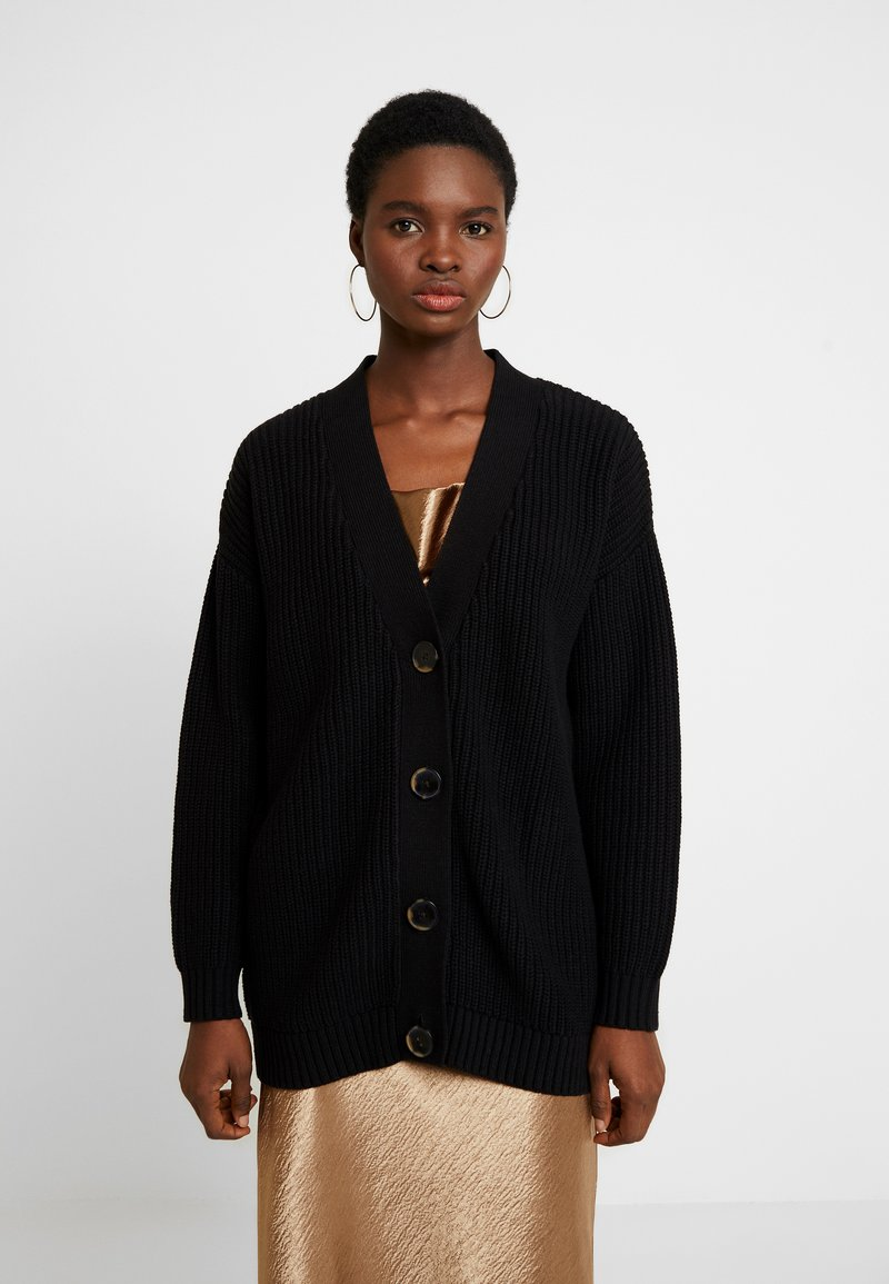 Selected Femme - SLFBAILEY BUTTON CARDIGAN - Kardigan - black