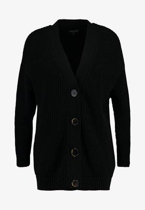 SLFBAILEY BUTTON CARDIGAN - Cardigan - black
