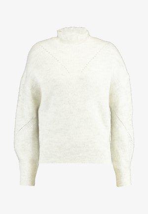SLFINGA FRILL-NECK - Trui - snow white/grey melange