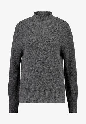 SLFINGA FRILL-NECK - Pullover - medium grey melange