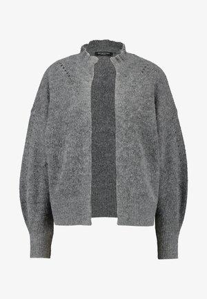 SLFINGA FRILL CARDIGAN - Vest - medium grey melange