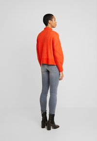 Selected Femme - SLFINGA FRILL CARDIGAN - Kardigan - orange - 2