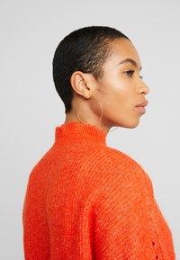Selected Femme - SLFINGA FRILL CARDIGAN - Kardigan - orange - 3