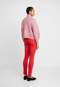 Selected Femme - SLFINGA FRILL CARDIGAN - Strickjacke - heather rose - 2