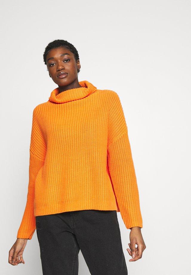SLFALBERTE HIGHNECK - Jumper - russet orange