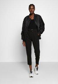 Selected Femme - SLFMARGE DEEP O-NECK - Vest - black - 1