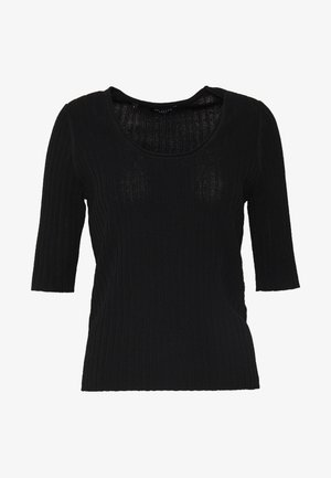 SLFMARGE DEEP O-NECK - Cardigan - black