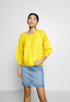 SLFMILLE WIDE ONECK  - Sweter - empire yellow
