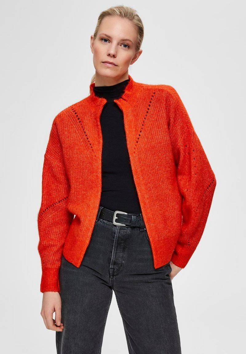 Selected Femme - PETITE - Kardigan - orange