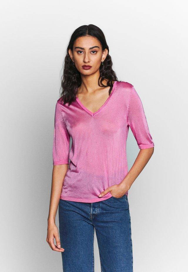 SLFWILONA V-NECK - Basic T-shirt - rosebloom