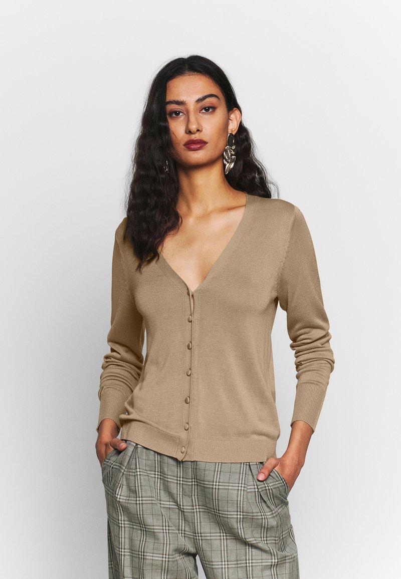 Selected Femme - DEEP - Cardigan - cornstalk