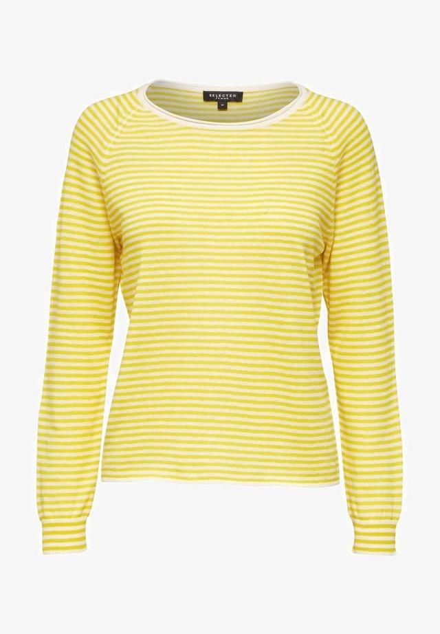 SLFASTRID O-NECK - Jersey de punto - empire yellow