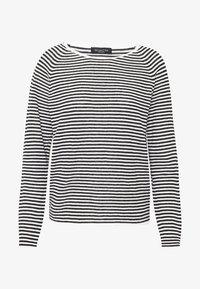 Selected Femme - SLFASTRID O-NECK - Sweter - black/snow white - 3