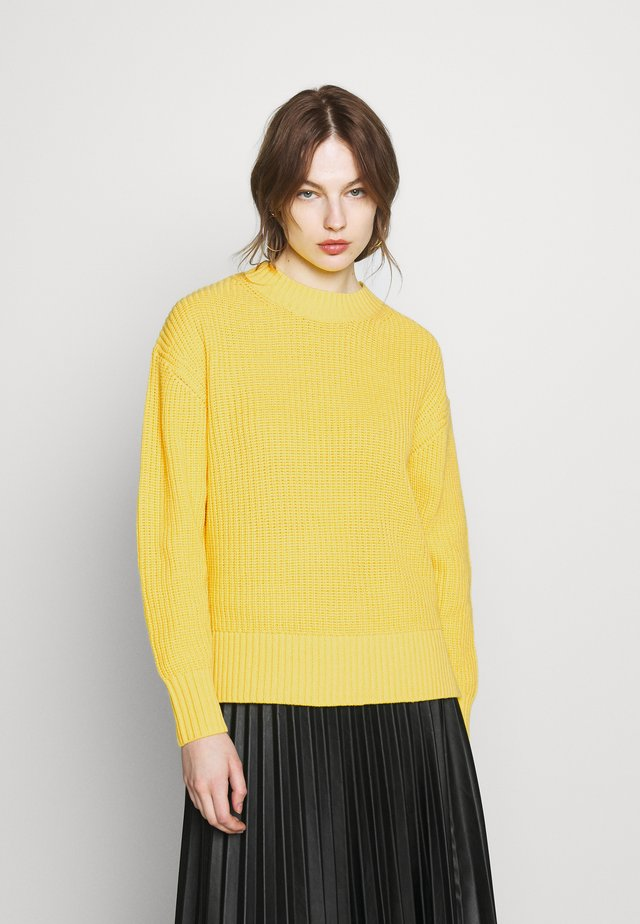 SLFBAILEY LS KNIT SLIT O-NECK B - Jersey de punto - empire yellow