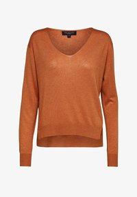 Selected Femme - SLFLINEL  - Sweter - caramel - 5