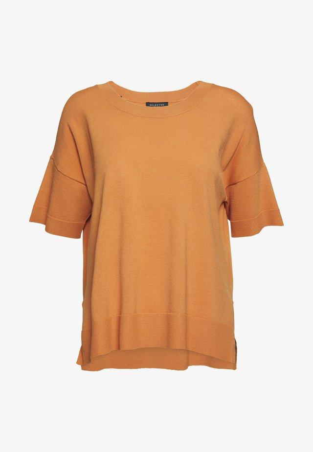 SLFWILLE O NECK - T-shirt basic - caramel