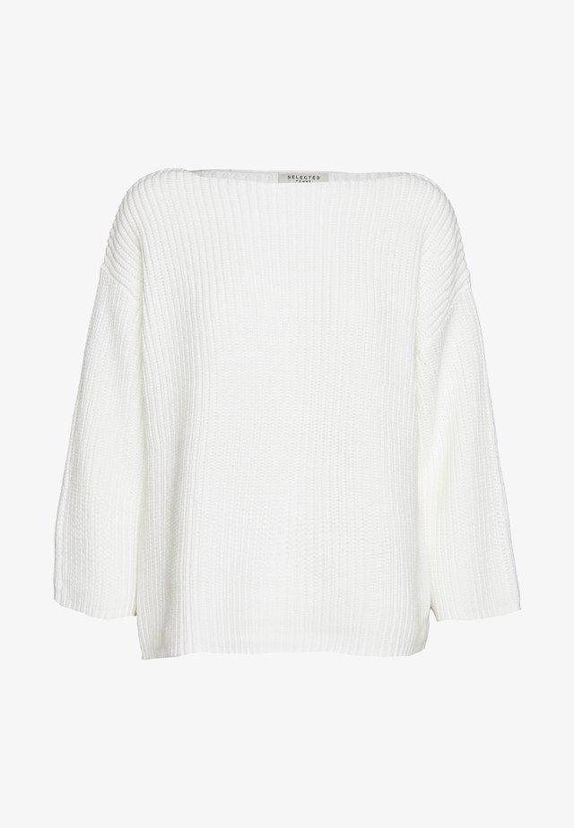 SLFGOLD  - Stickad tröja - snow white