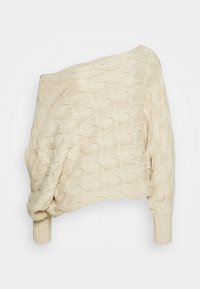 Selected Femme - SLFCARMA CABLE BOATNECK - Maglione - sandshell - 1