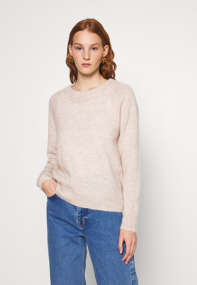 SLFLULU O NECK  - Stickad tröja - birch melange
