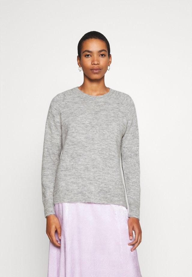 SLFLULU O NECK  - Stickad tröja - light grey melange
