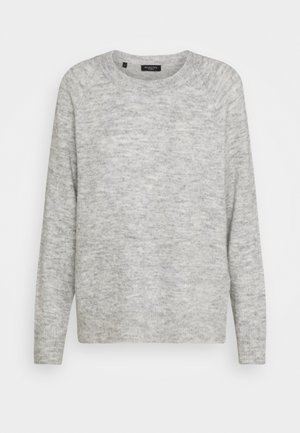 SLFLULU O NECK  - Strikpullover /Striktrøjer - light grey melange