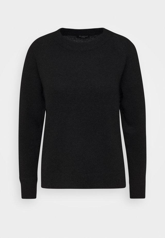 SLFLULU O NECK  - Stickad tröja - black