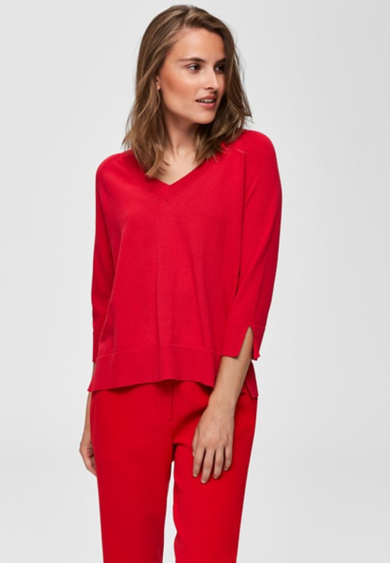 Selected Femme - Pullover - red