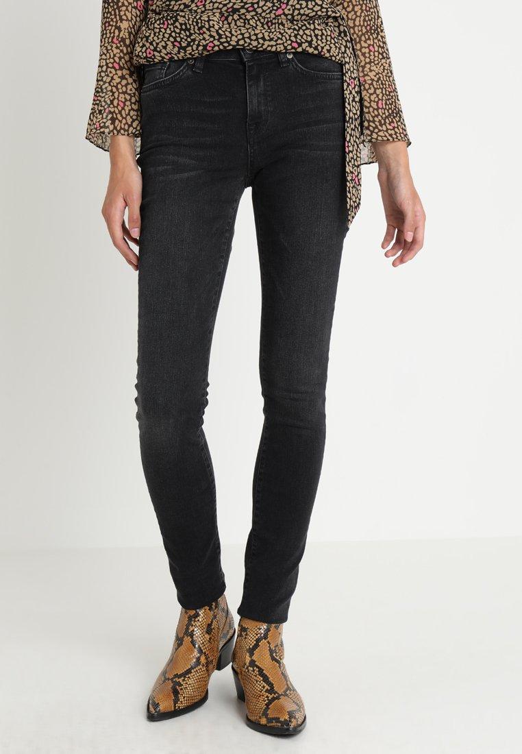 Selected Femme - SLFIDA WASH - Skinny džíny - black denim