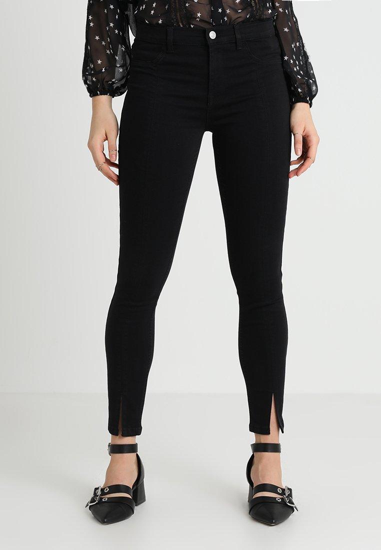 Selected Femme - SLFGAIA CROP - Jeans Skinny Fit - black denim