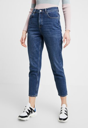 SLFFRIDA MOM - Džíny Relaxed Fit - dark blue denim