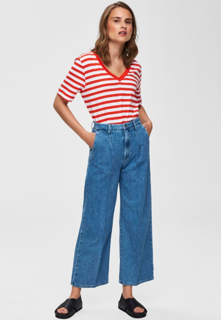 Selected Femme - Relaxed fit jeans - medium blue