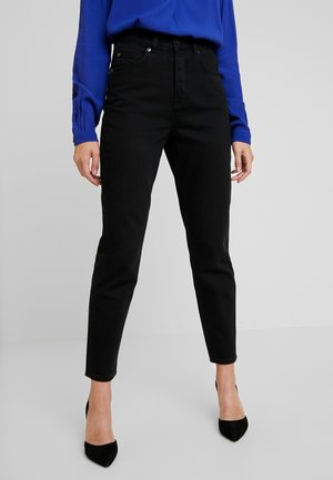 SLFFRIDA MOM LASH - Džíny Relaxed Fit - black denim