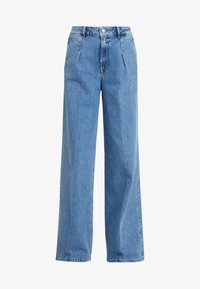 Selected Femme - SLFSPENCER WIDE DAWN - Široké džíny - medium blue denim - 5