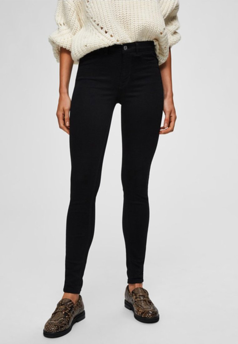Selected Femme - Jeggings - black