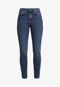 Selected Femme - SLFHALEY SLIM DELUGE - Džíny Slim Fit - dark blue denim - 3