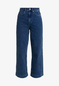 Selected Femme - SLFSUSAN WIDE BELLE - Široké džíny - dark blue denim - 3