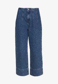 Selected Femme - JAMIE - Široké džíny - medium blue denim - 4