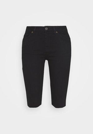 SLFIDA - Denim shorts - black