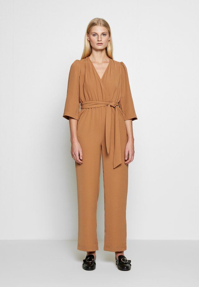 Jumpsuit - tobacco brown