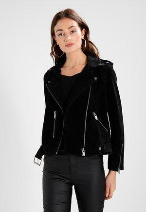 SFSANELLA JACKET - Leather jacket - black