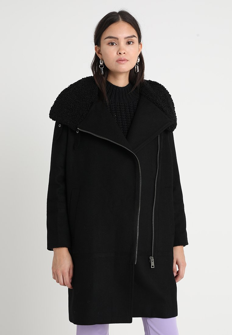 Selected Femme - SLFAMANDA COAT - Wollmantel/klassischer Mantel - black