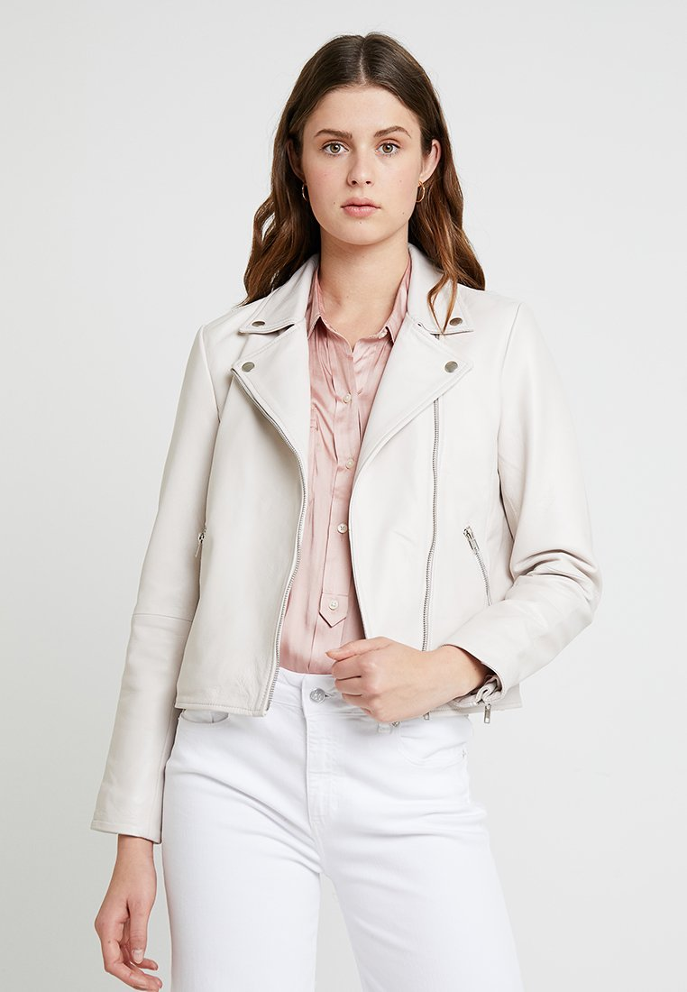 Selected Femme - SLFMARLEN JACKET - Lederjacke - heavenly pink