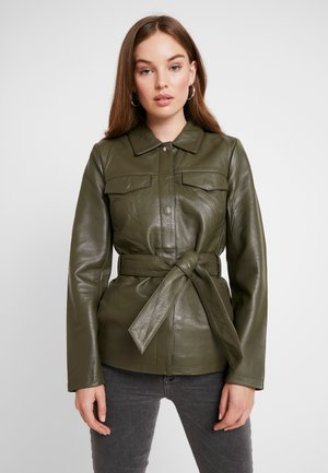 SLFSTELLA UTILITY JACKET - Lederjacke - olive night