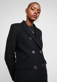 Selected Femme - SLFBINA COAT CAMP - Kåpe / frakk - black - 3