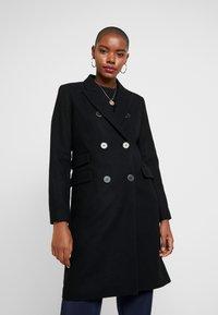 Selected Femme - SLFBINA COAT CAMP - Kåpe / frakk - black - 0